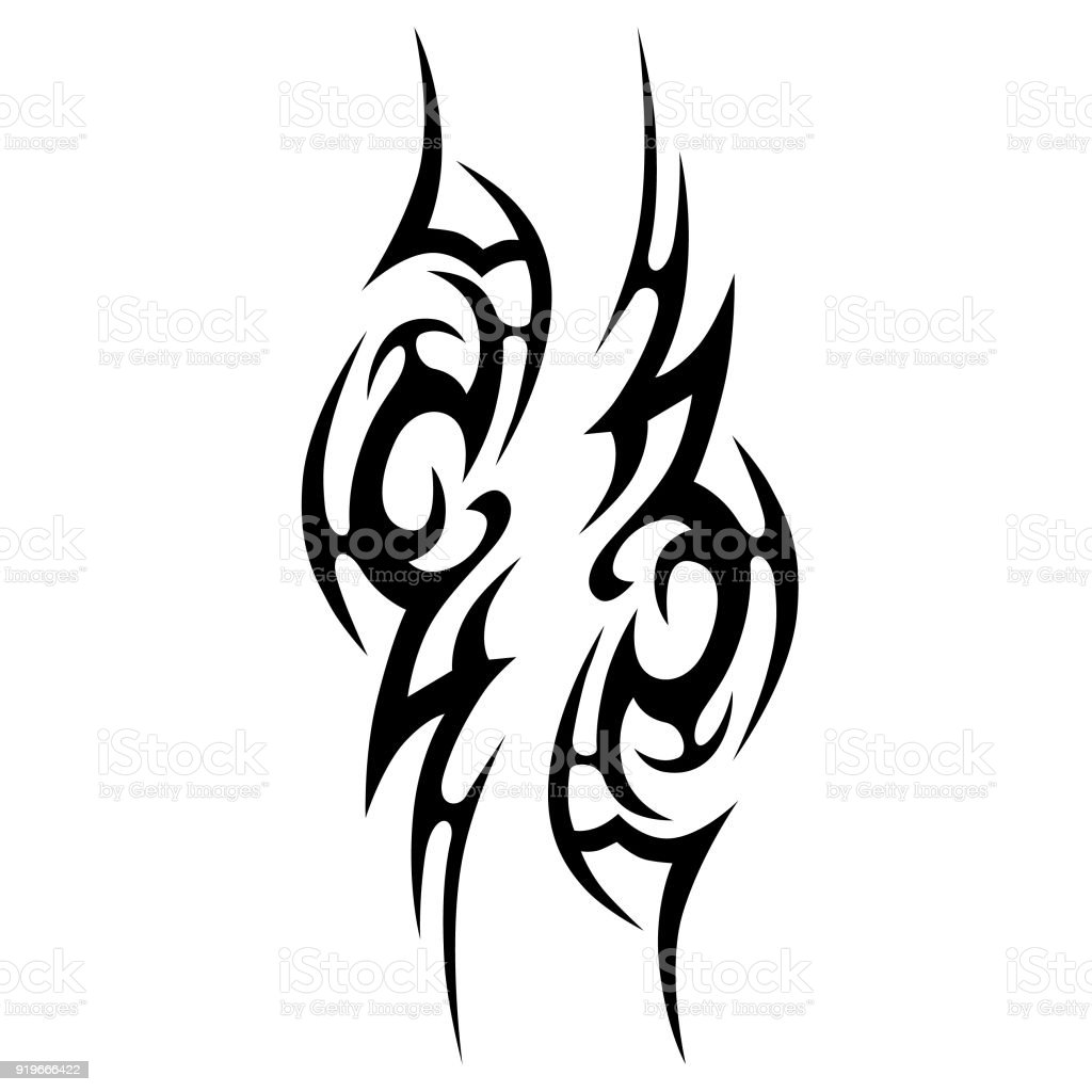 39b7ba2b1 Art and Craft Product, Painted Image, Paper Scroll, Russia, Abstract. Tattoo  tribal vector design. Simple ...