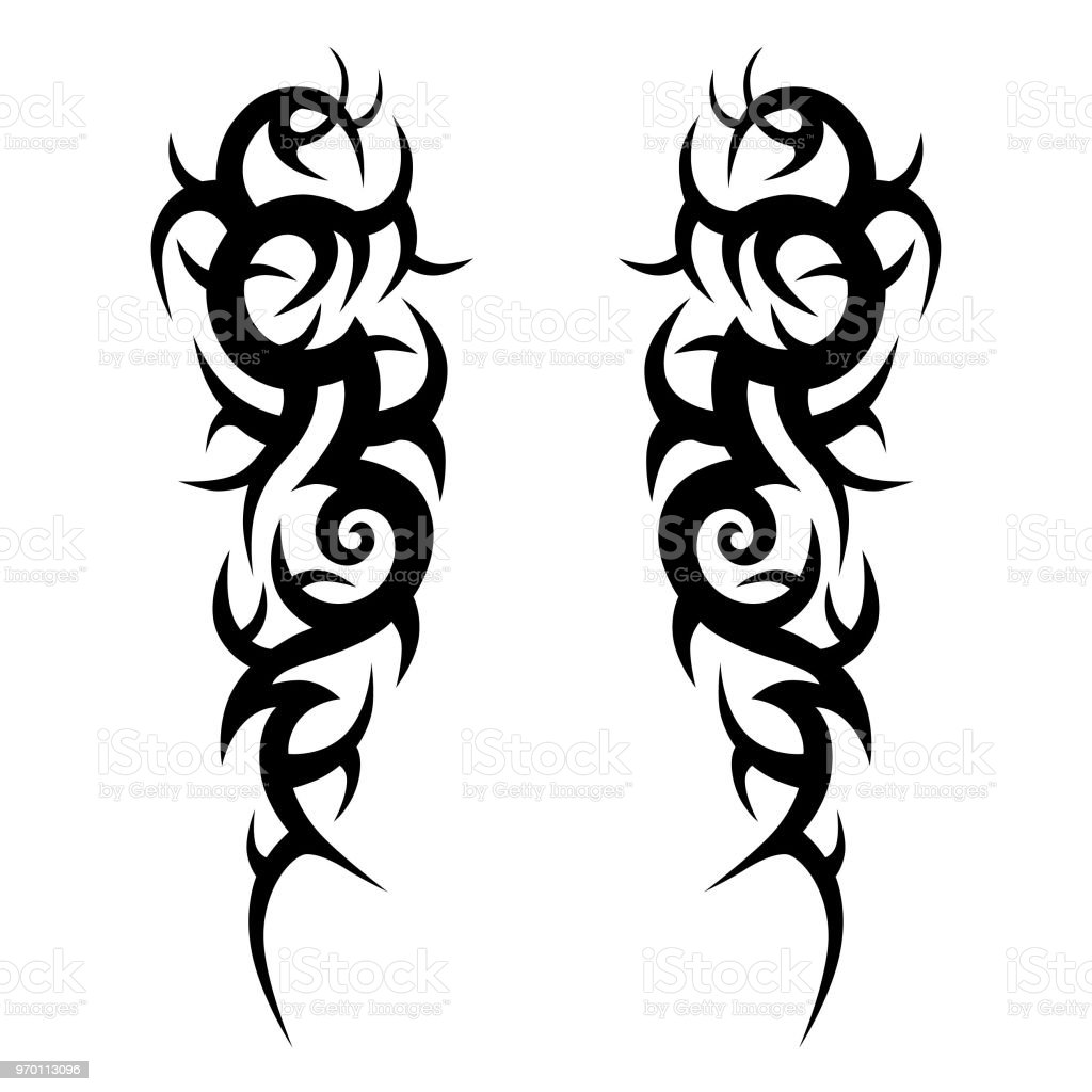 Tattoo Tribal Vector Design Sketch Sleeve Art Abstract Pattern Arm