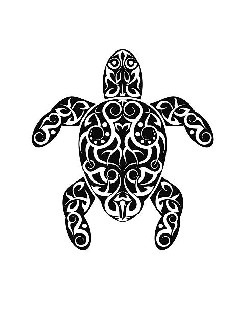 Royalty Free Clip Art Of Tribal Turtle Tattoos Designs Clip Art