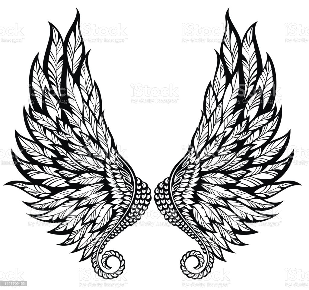 Tattoo Wings Stock Illustration Download Image Now Istock Deeper meanings can be expressed by the types of. tattoo wings stock illustration download image now istock