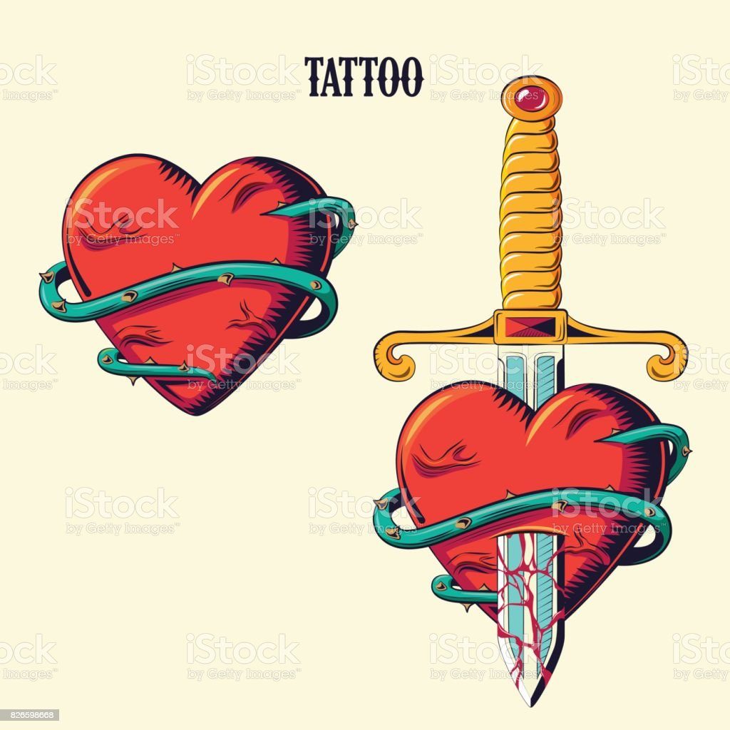 Tattoo_0 - ilustração de arte em vetor