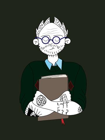Tattooed teacher illustration