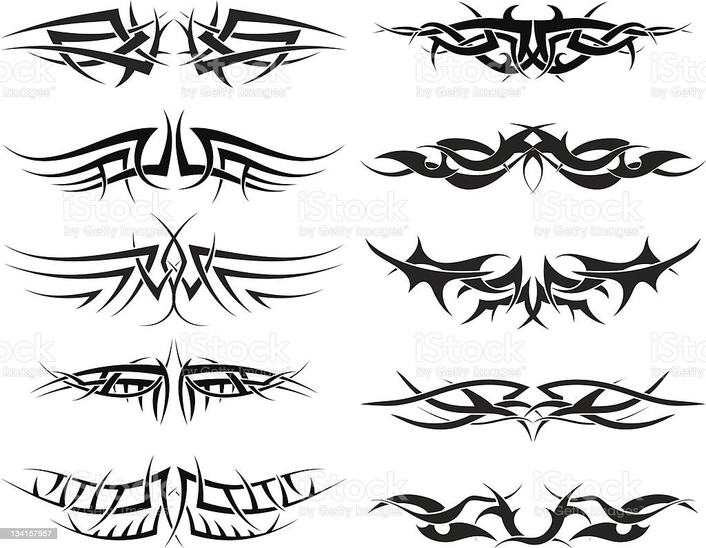 tattoos set royalty-free tattoos set stock vector art & more images of abstract