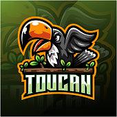 Taucan esport mascot logo design