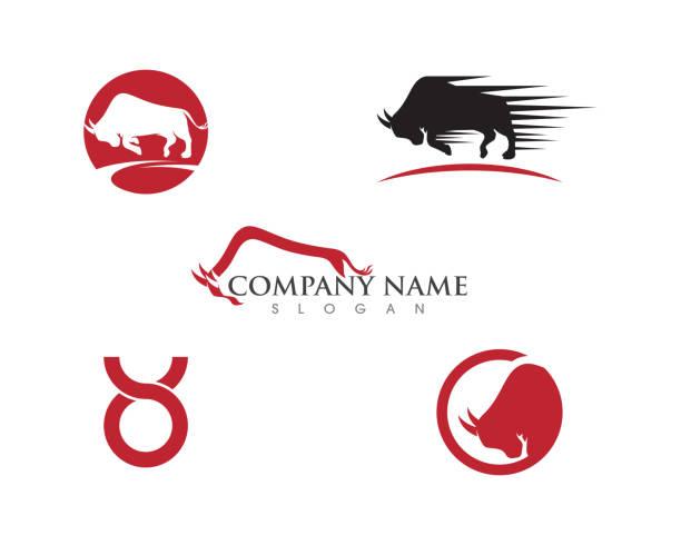 Taurus Logo Template Taurus Logo Template vector icon illustration design american bison stock illustrations