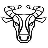 Taurus zodiac sign, golden horoscope symbol. Stylized astrological illustration.