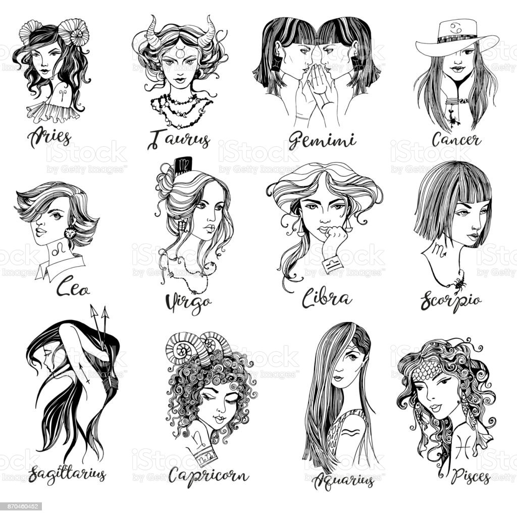 Taurus Zodiac Signs Girl Stock Vector Art More Images Of Adult