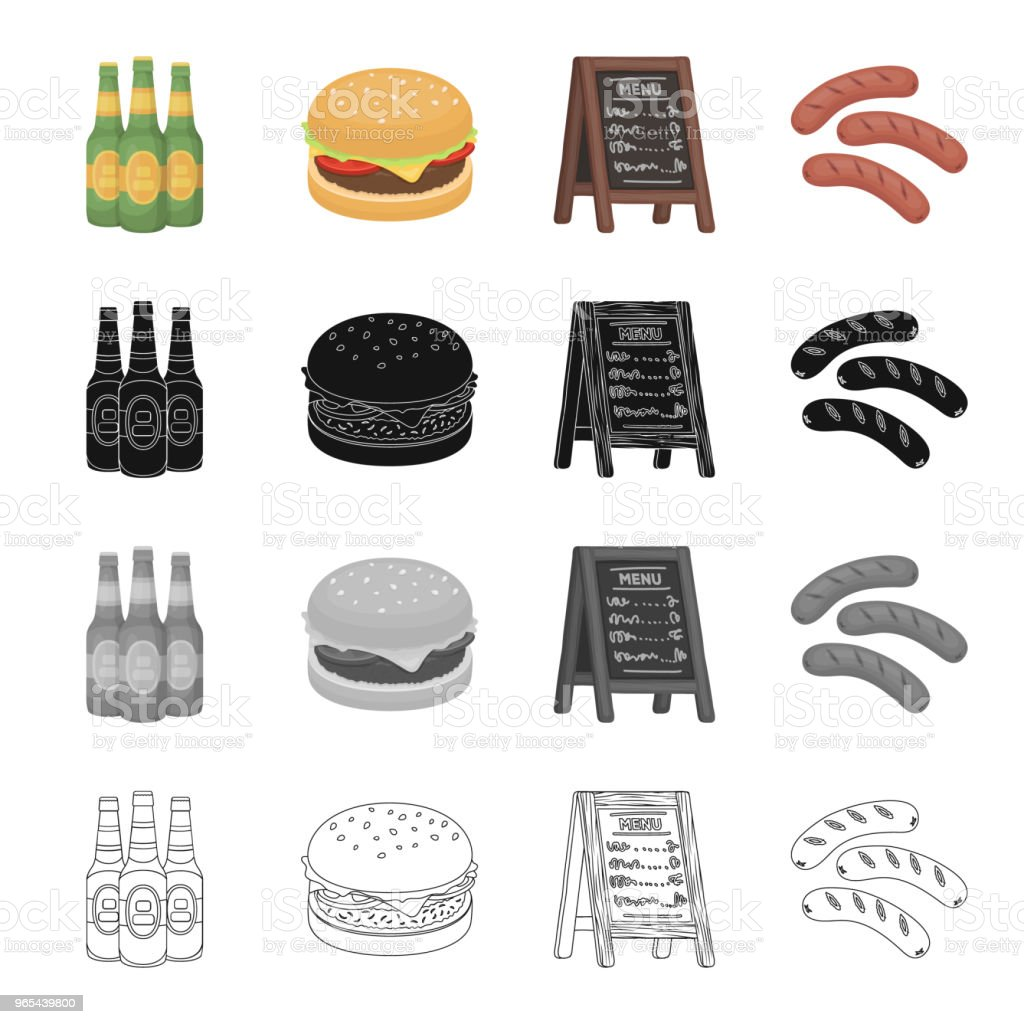 Tavern, food, Recreation and other web icon in cartoon style.Stand, tree, sausages, icons in set collection. royalty-free tavern food recreation and other web icon in cartoon stylestand tree sausages icons in set collection stock vector art & more images of bottle