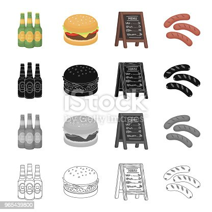 Tavern Food Recreation And Other Web Icon In Cartoon Stylestand Tree Sausages Icons In Set Collection Stock Vector Art & More Images of Bottle 965439800