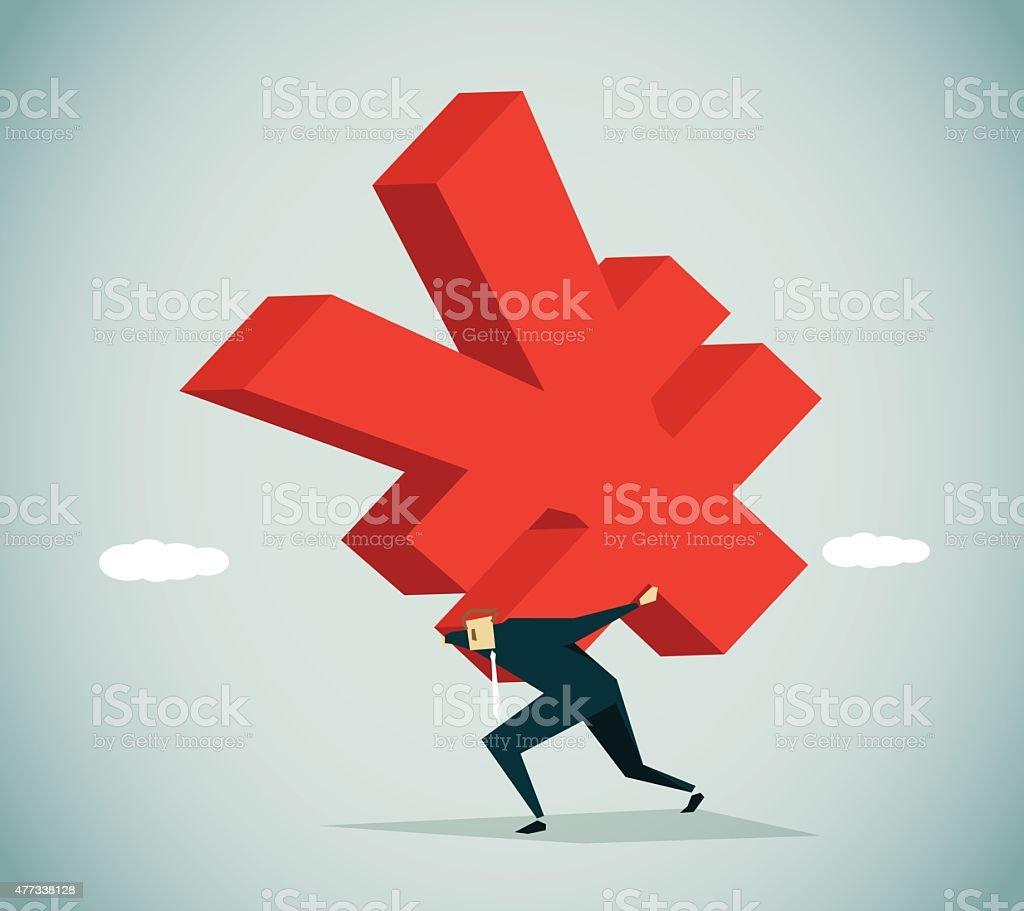 Tax Burden vector art illustration