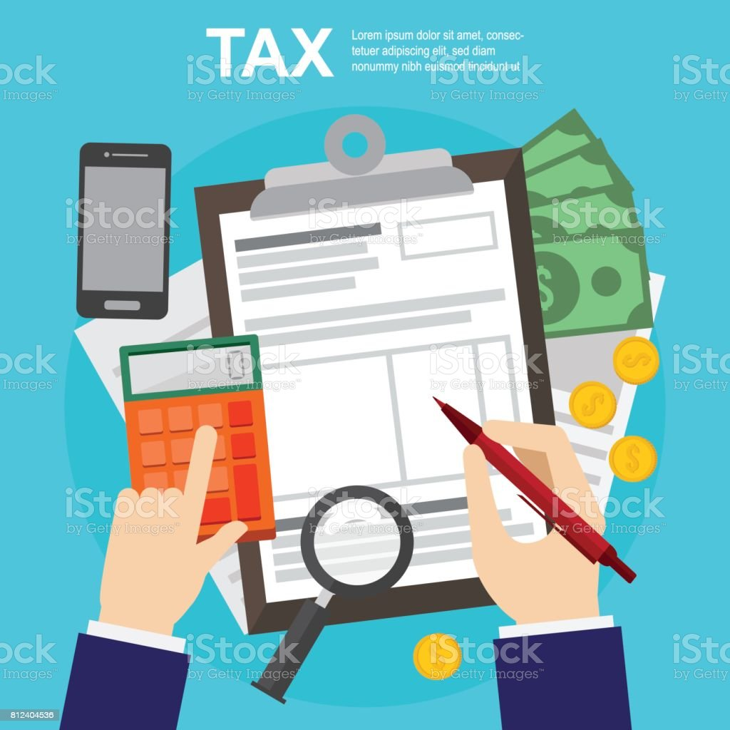 tax calculation budget and accounting audit and financial report web