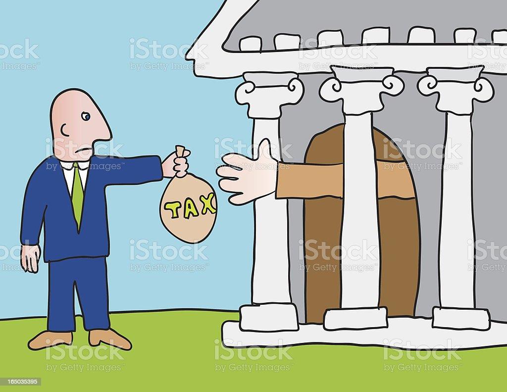 tax collector vector art illustration