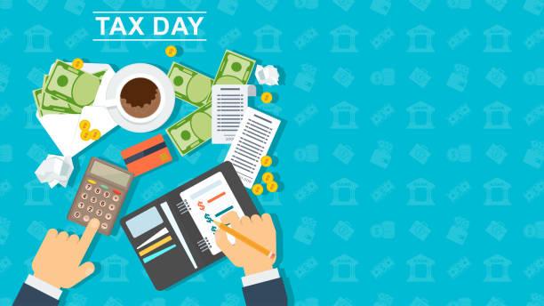 767 Tax Day Illustrations Clip Art Istock
