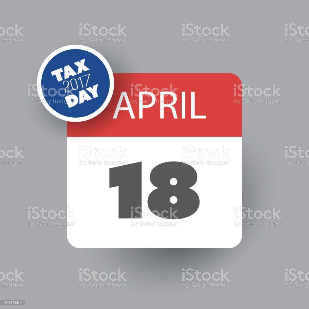 Ilustración de Estados Unidos Impuestos Día Icono Plantilla De ...