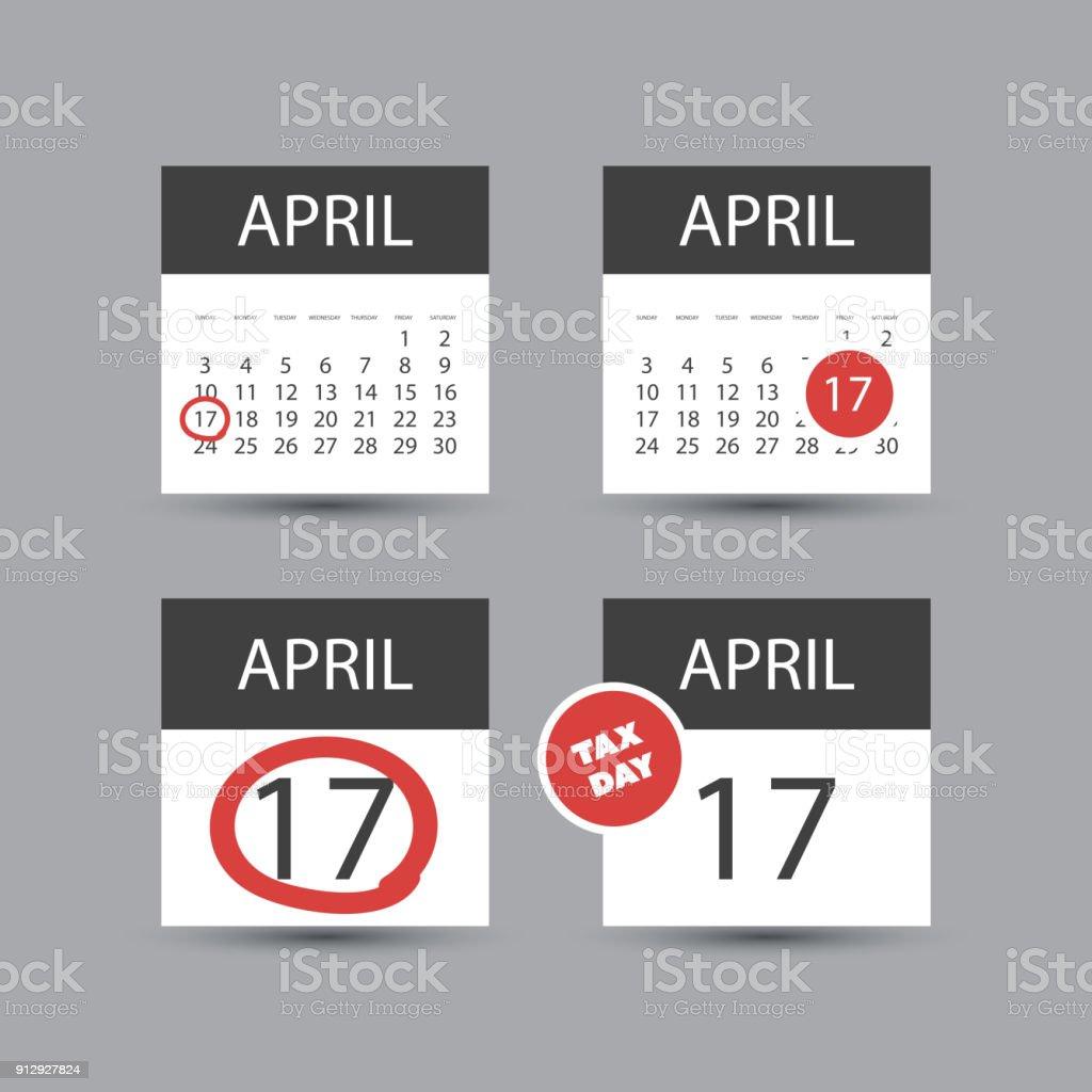 Ilustración de Estados Unidos Impuestos Día Icon Set Plantilla De ...