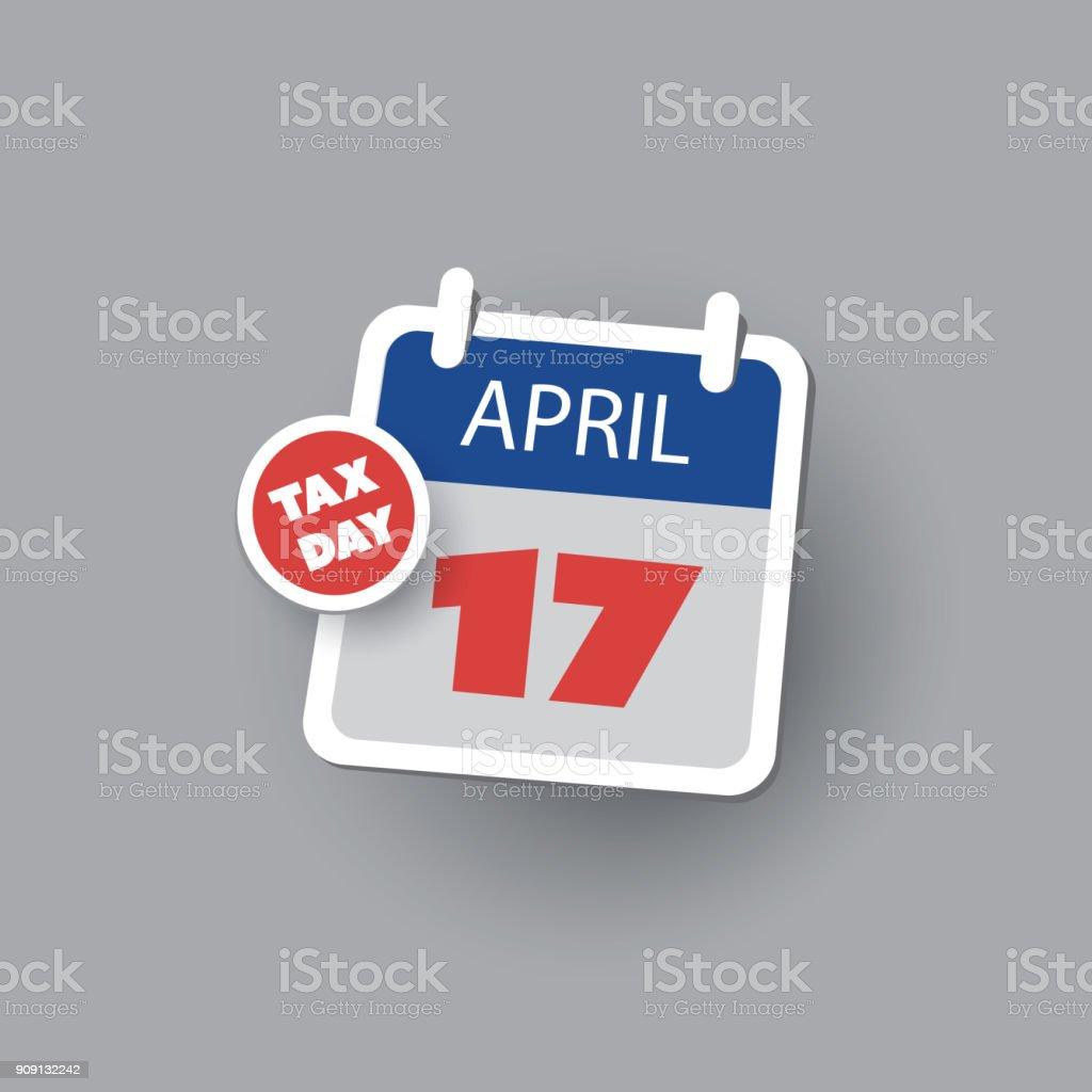 Ilustración de Estados Unidos Impuestos Día Recordatorio Plantilla ...