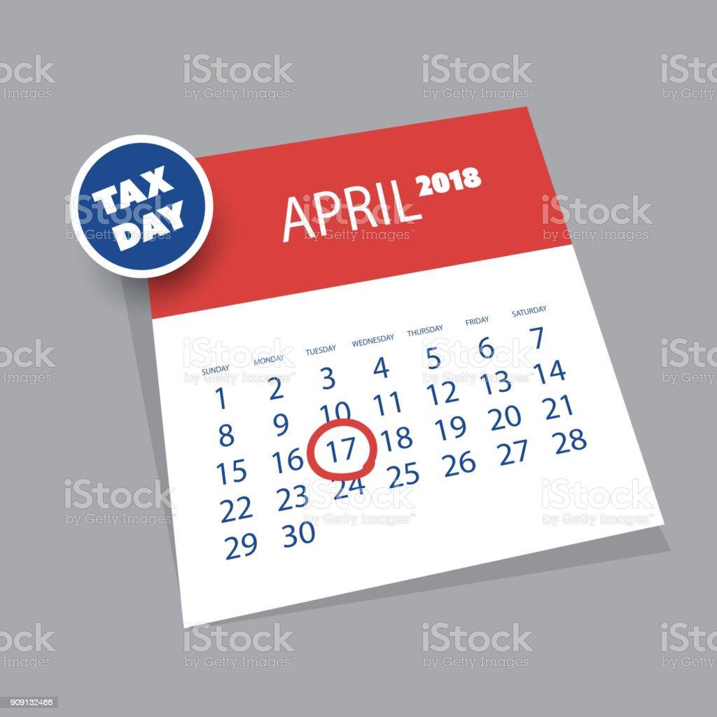 Estados Unidos Impuestos Día Recordatorio Plantilla De Diseño De ...