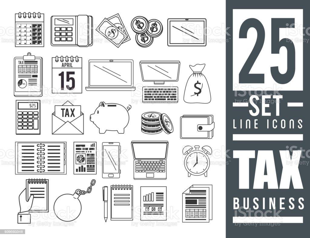 Tag Zeit Eingestellten Symbole Steuern Stock Vektor Art und mehr ...