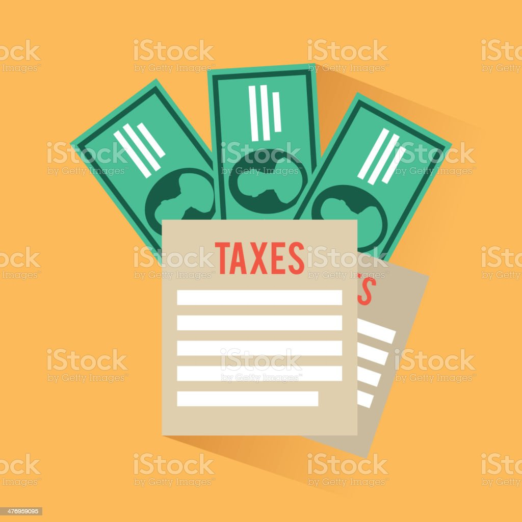 Tax Design vector art illustration