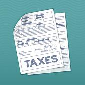 istock Tax Form Documents 1277144099