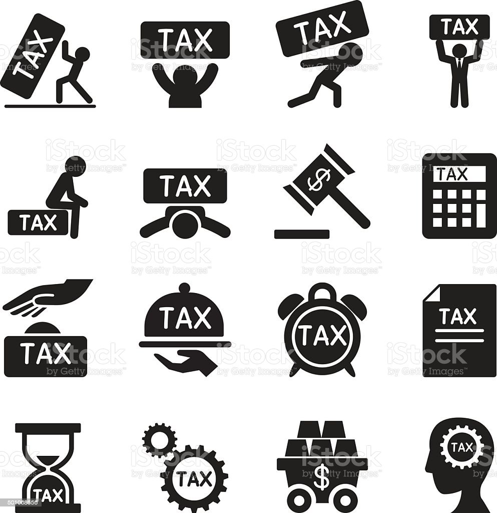 Tax icons set Vector illustration vector art illustration