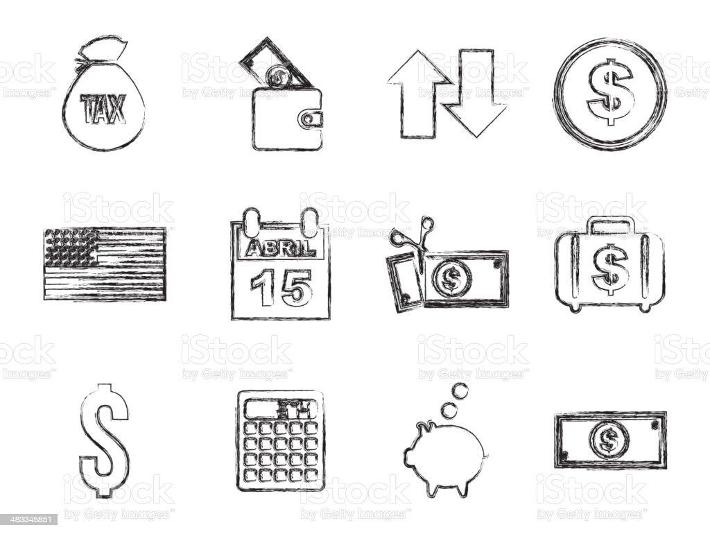 Steuernsymbole Stock Vektor Art und mehr Bilder von Bankgeschäft ...