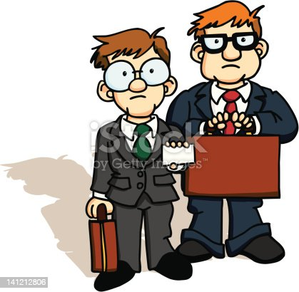 A couple of government tax agents. You can put anything you want on the business card.
