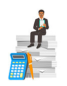 Tax payment calculation accounting concept