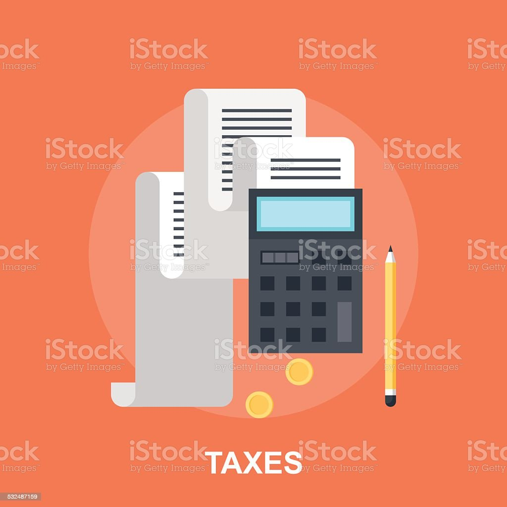 Tax Payment vector art illustration