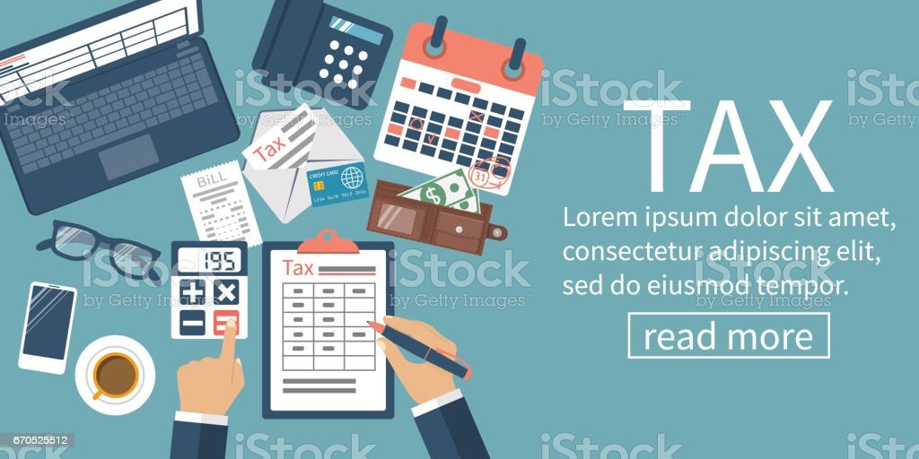 Tax payment vector vector art illustration