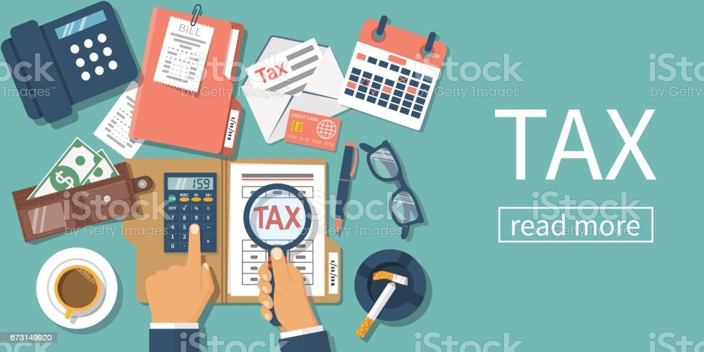 Tax payment. vector vector art illustration