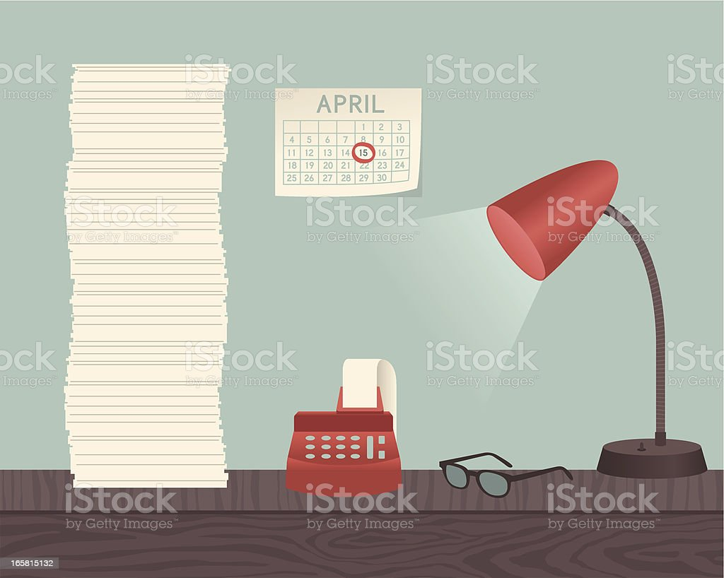 Tax Time vector art illustration