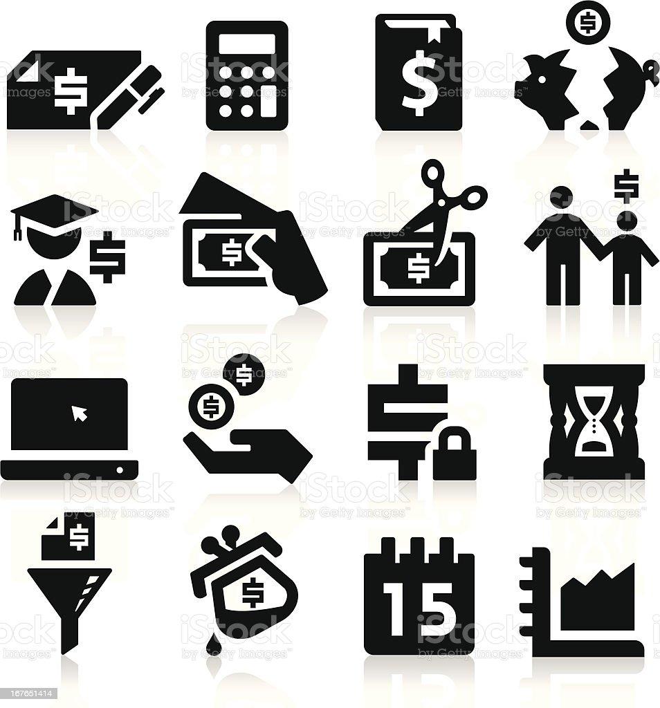Tax Vector Icons vector art illustration