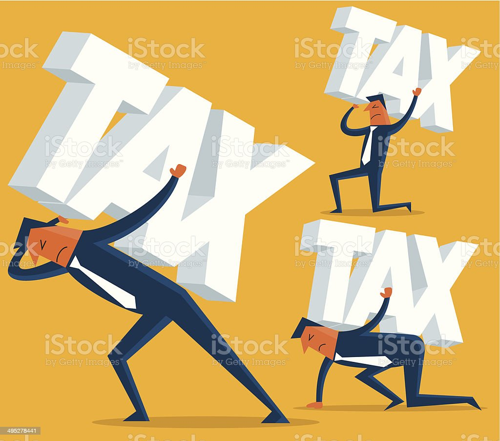 Tax vector art illustration