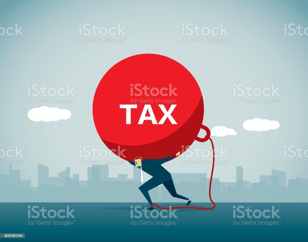 Impostos - ilustração de arte em vetor