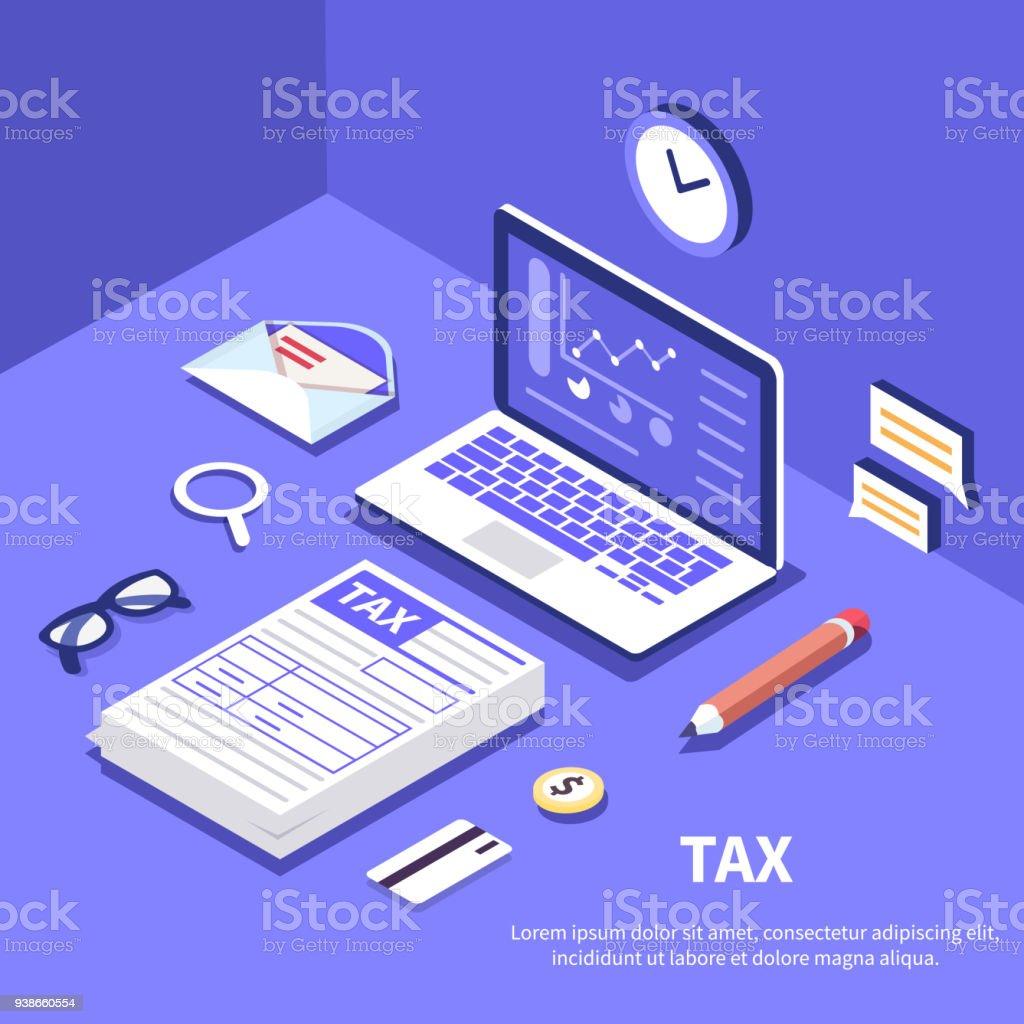De impuestos - ilustración de arte vectorial