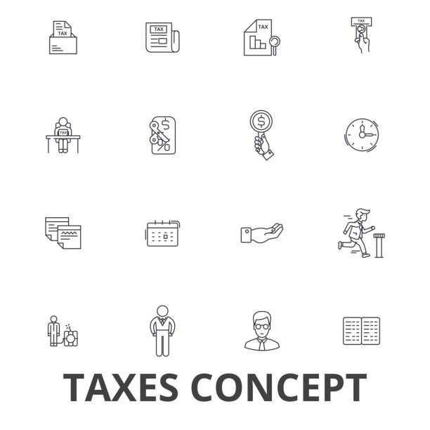 Top 60 Income Tax Clip Art, Vector Graphics and