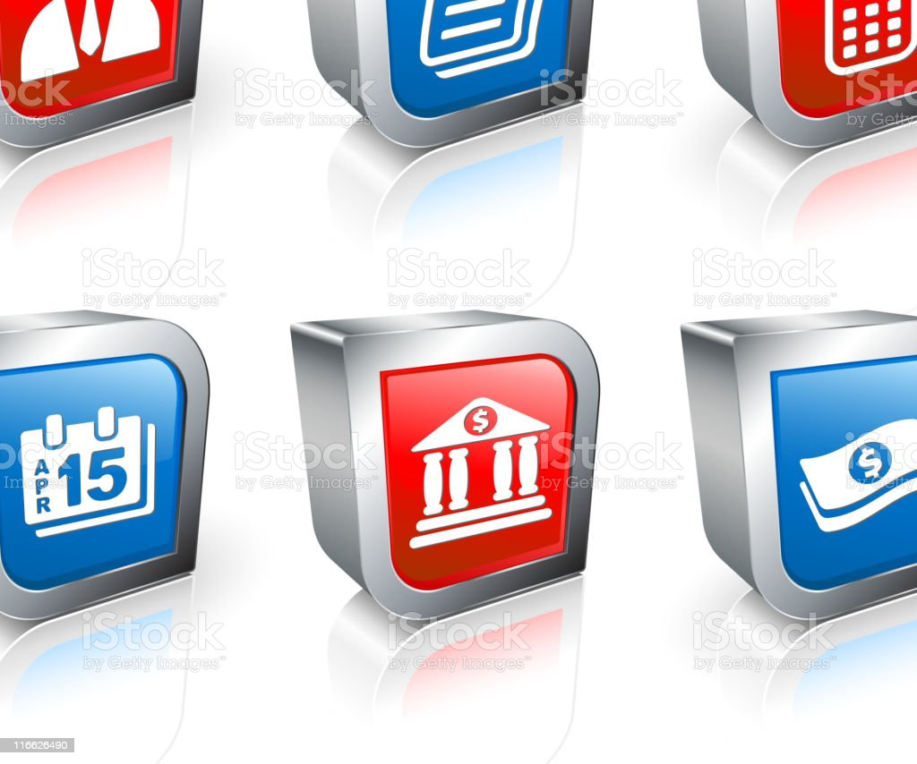taxes and accounting vector icon set royalty-free stock vector art