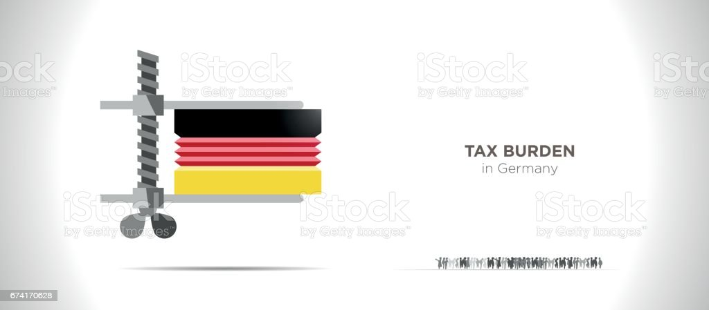 Taxes Burden vector art illustration