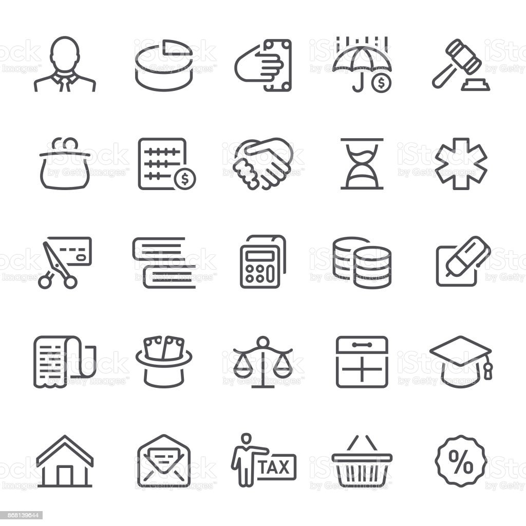Taxes Icons vector art illustration