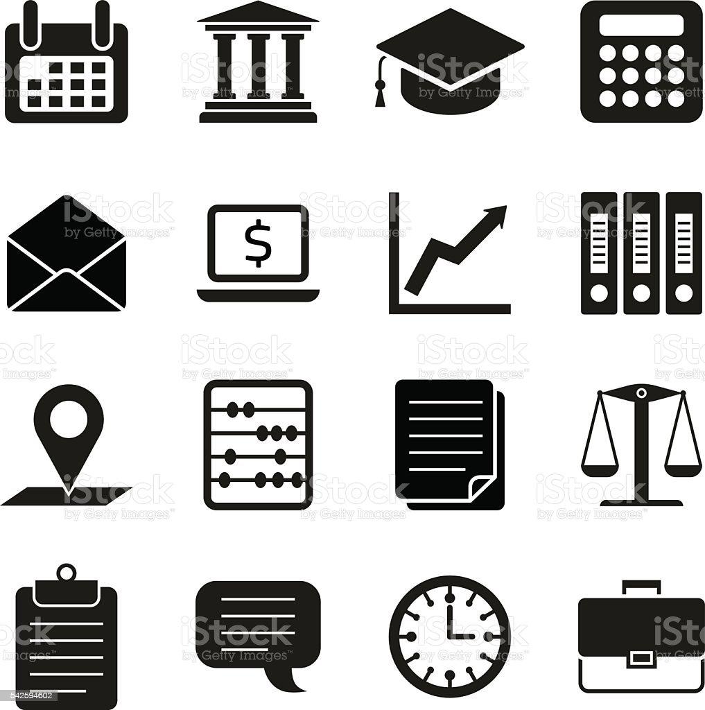 Steuern Recht Finanzenkonzept Flache Symbole Stock Vektor Art und ...