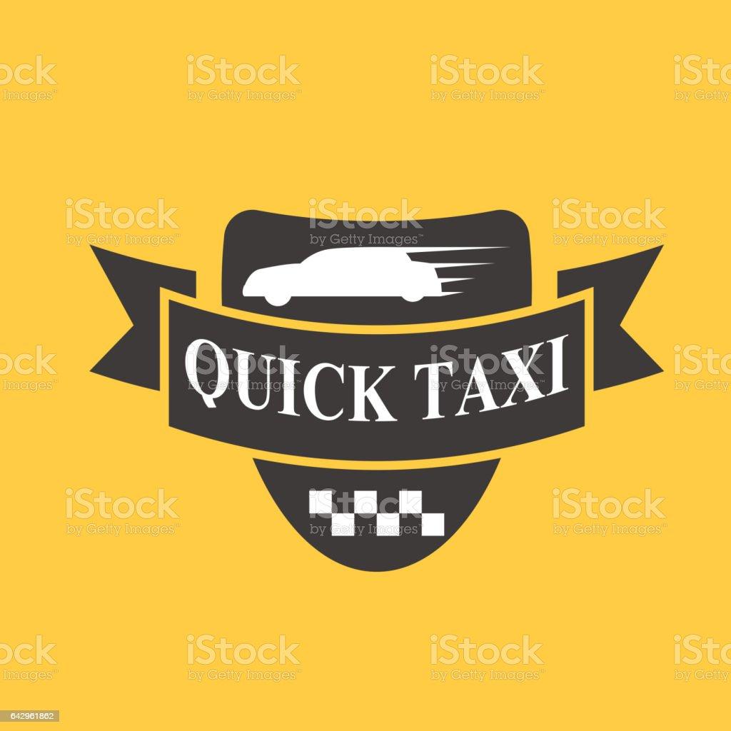 Taxiabzeichen Auto Service Geschäft Zeichen Vorlage ...