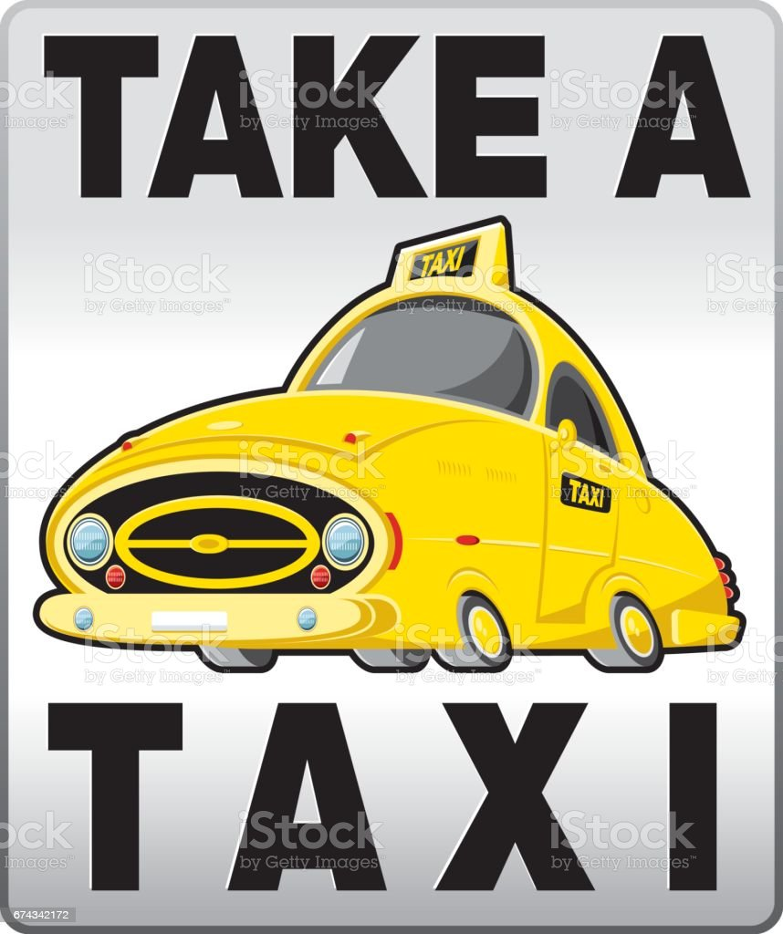 Taxi banner vector art illustration