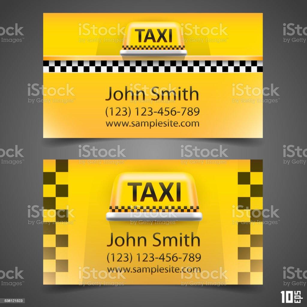 Taxi business card vector art illustration