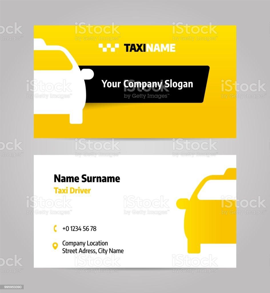Taxi Geschaft Oder Visitenkarte Lizenzfreies Taxigeschaft Stock Vektor Art Und Mehr Bilder