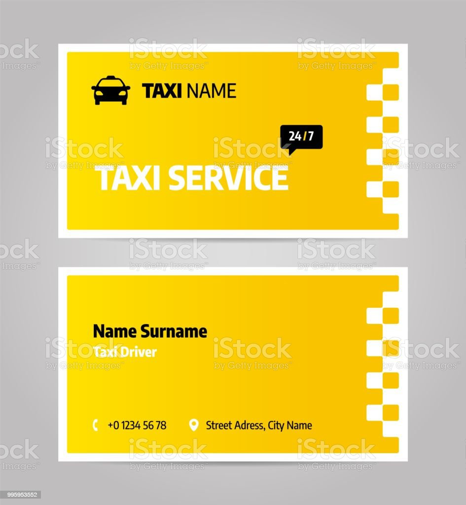 Taxi Business Or Visiting Card Stockowe Grafiki Wektorowe
