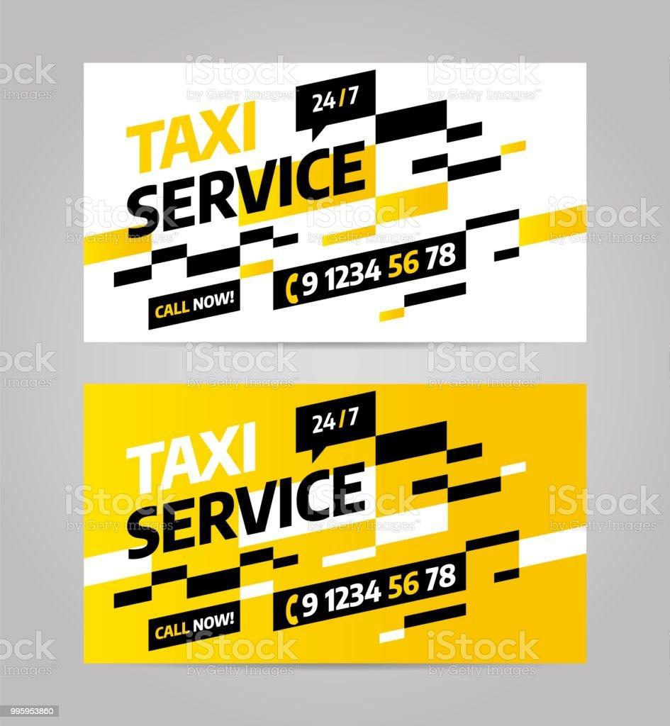 Taxigeschäft Oder Visitenkarte Stock Vektor Art Und Mehr