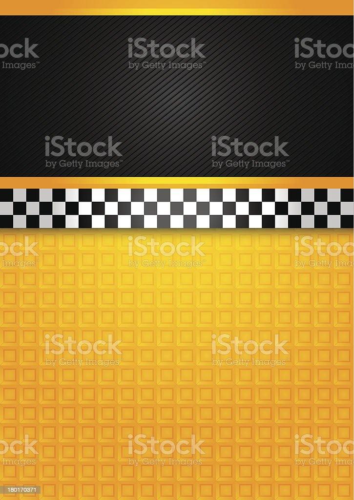 Taxi cab - blank template vector art illustration