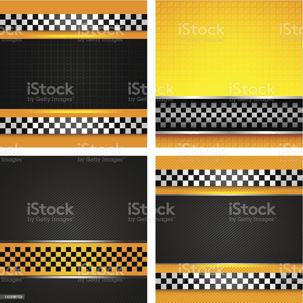 Taxi cab set background royalty-free stock vector art