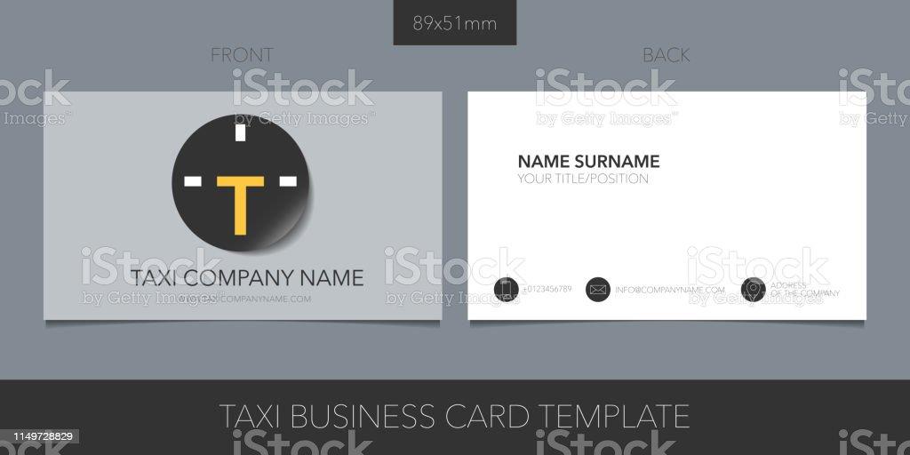 Taxi Kabine Vektor Visitenkarte Mit Icon Und